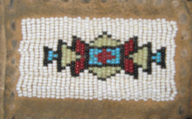Native American Craft Beaded Pouch