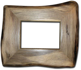 Blue and Buggy Pine Picture Frame